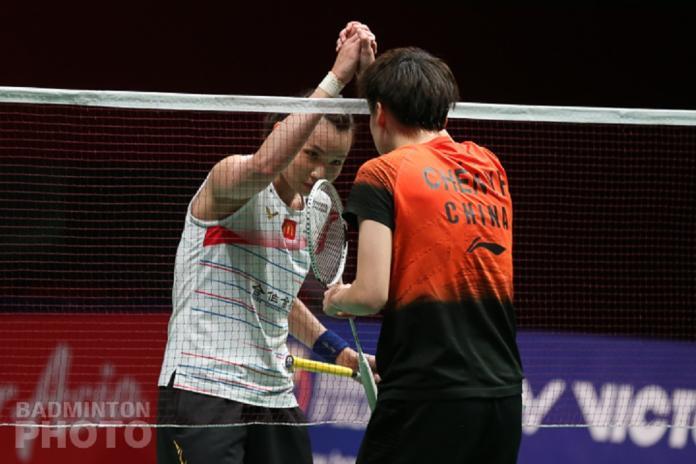 ▲戴資穎(白球衣)、陳雨菲(圖/Badminton photo提供)