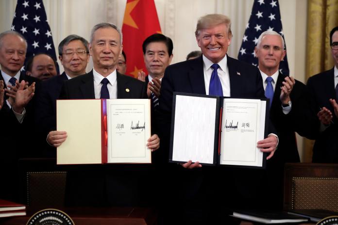 美中簽署第一階段貿易協議 川普:這是歷史性時刻