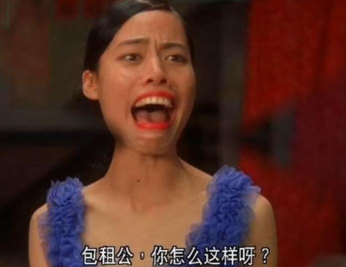 ▲陳凱師在《功夫》飾演丑角「齙牙珍」,犧牲頗大。(圖/微博、影片截圖)