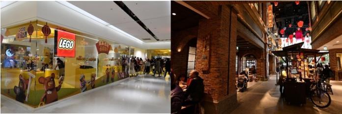 <br> ▲遠百信義A13擁有許多獨家品牌,包括全台唯一樂高授權專賣店;而懷舊主題美食餐飲,更是最受歡迎的拍照點。(圖/林柏年攝)