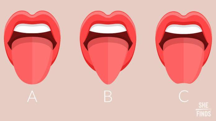 ▲人類的舌頭形狀分成 3 大類型,可以從吐舌瞬間一秒看出你的真實性格。(圖/翻攝自 she finds )