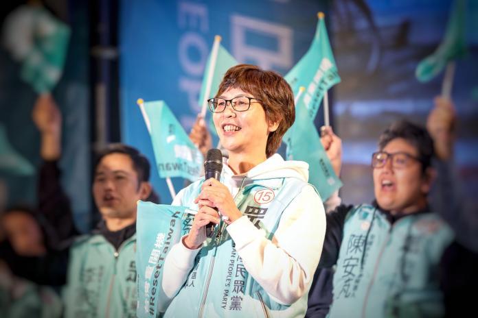 台灣民眾黨不分區立委當選人蔡壁如。