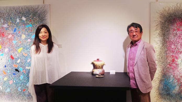 日本柴燒大師<b>陶藝</b>創作登台 藝壇夫妻檔展當代藝術