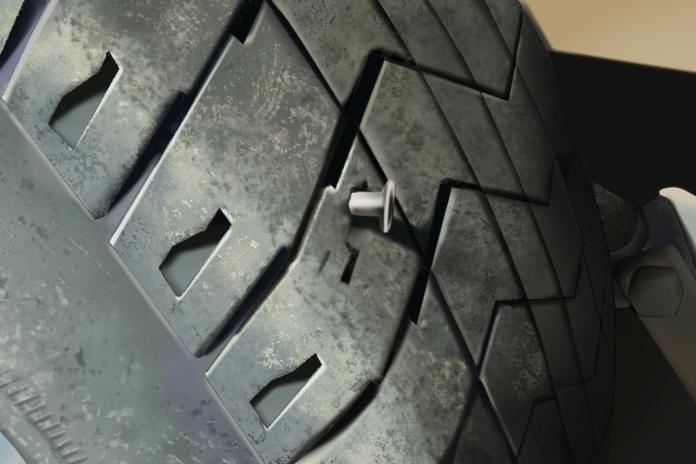▲女員工以車子輪胎洩氣為由遲到,主管卻一秒抓包。(圖/翻攝 @sydneyywhitson 推特)