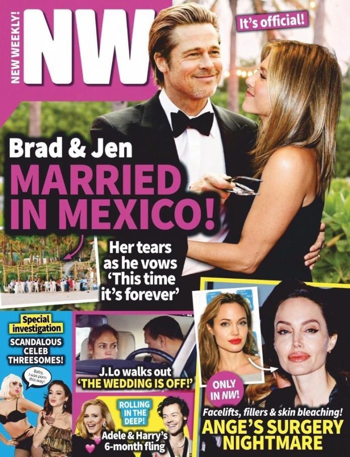 ▲澳洲雜誌《NW》爆料兩人結婚。(圖/封面圖)