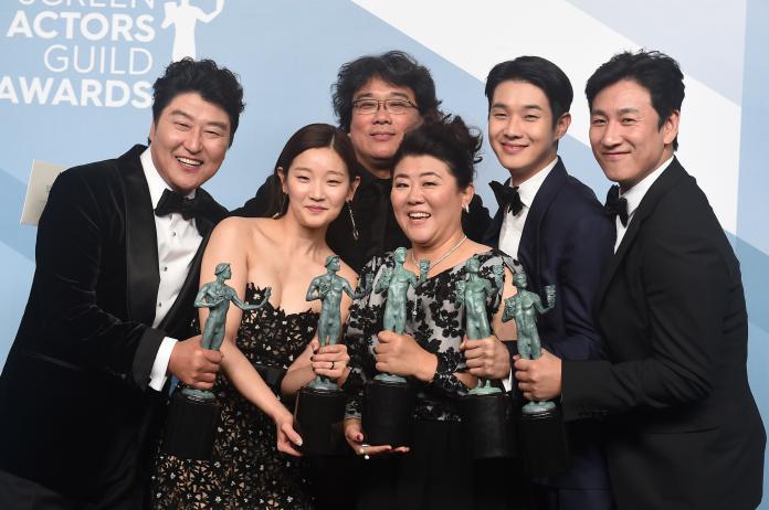 Kang-Ho Song, Park So-dam, Bong Joon-ho, Jang Hye-jin, Choi Woo-shik, Lee Sun Gyun
