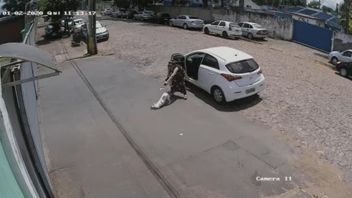 女子拋下2條腿白狗 轉身將健全黑狗塞上車加速駛離!