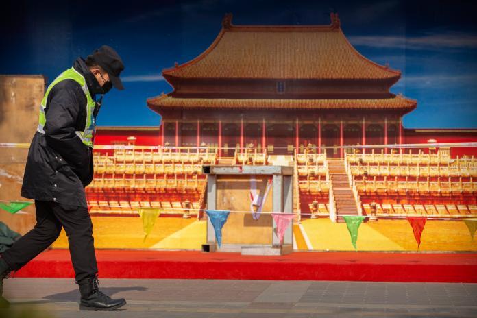 ▲武漢肺炎疫情失控,北京上演「首都保衛戰」。(圖/美聯社/達志影像)