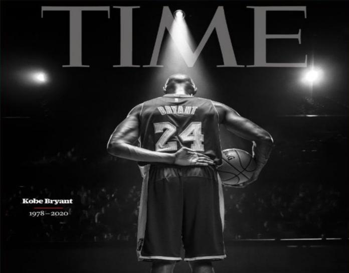 ▲不捨 Kobe 殞落,美國時代雜誌最新 1 期以他的黑白謝幕照作為封面致意。(圖/翻攝自時代雜誌)