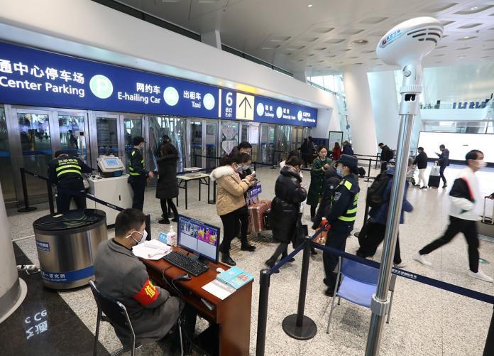 機場檢疫:新華社