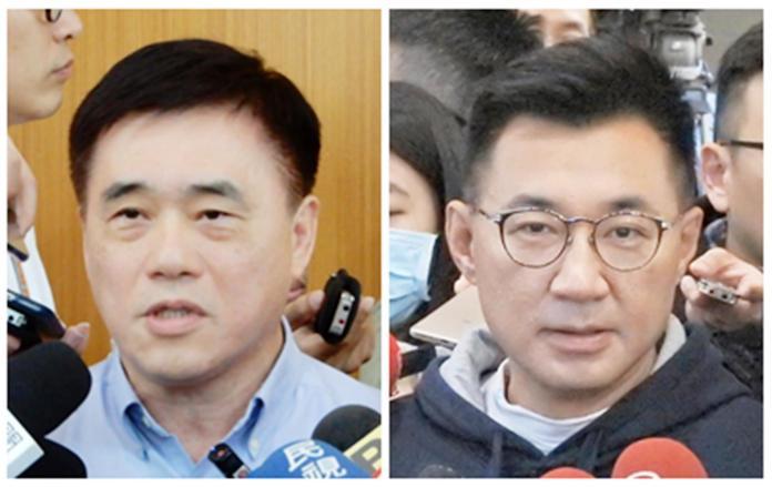 ▲國民黨主席補選參選人:郝龍斌、江啟臣。(組圖 / 記者陳弘志攝)