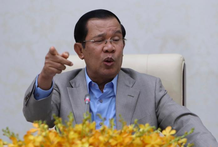 ▲柬埔寨總理洪森 30 日在新聞發佈會上力挺中國,表示自己不打算像其他國家一樣,從中國撤僑或停飛班機。(圖/美聯社/達志影像)
