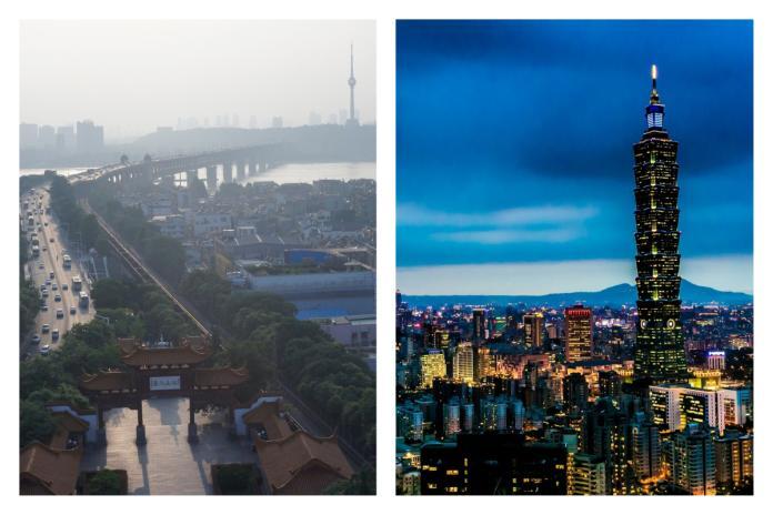 ▲武漢 vs 台北哪個城市較繁華?答案意外一面倒。(示意圖/翻攝自臉書和 pixabay )