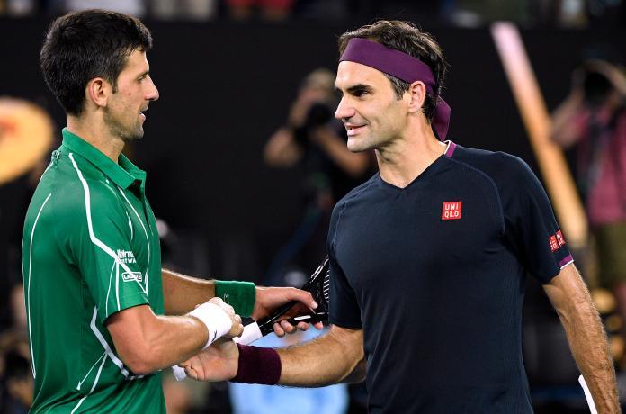 ▲Novak Djokovic(左)、Roger Federer。(圖/美聯社/達志影像)
