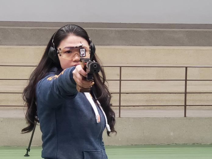 ▲射擊女將田家榛,此次東京奧運將以媽媽身分出征。(圖/黃建霖攝)