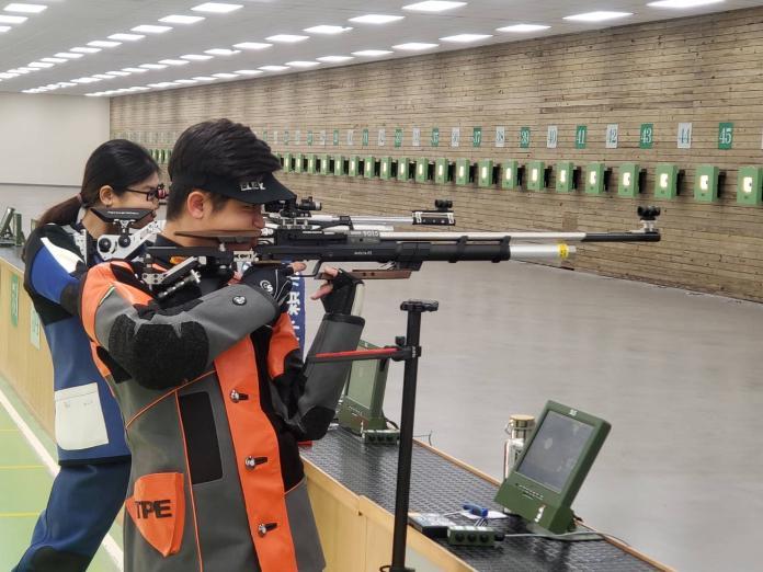 ▲10公尺空氣步槍選手呂紹全首次參加奧運。(圖/黃建霖攝)