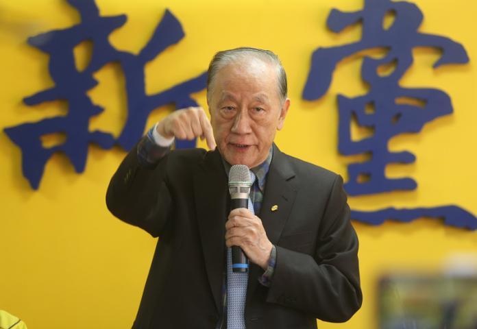 <br> ▲新黨前主席郁慕明。( 圖 / 中央社 )