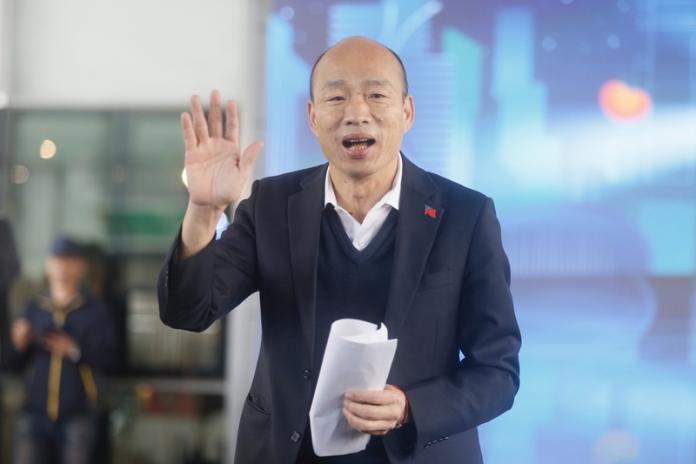 <br> ▲韓國瑜遭苦苓怒批「讀稿機」。(圖/中央社記者董俊志攝)