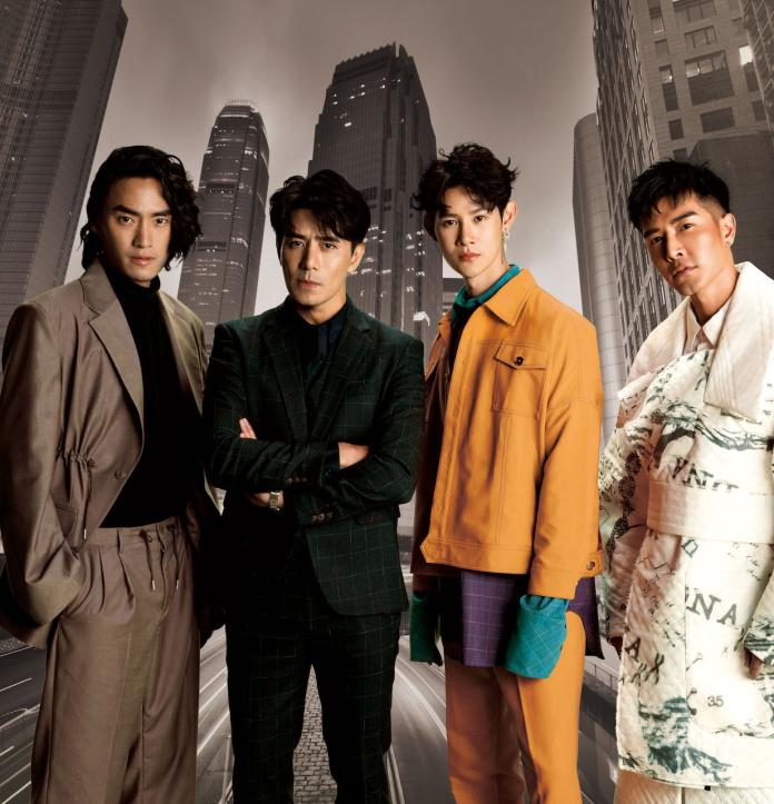 <br> ▲Vic(左起)、郭彥均、夏和熙、森田互相比帥。(圖/CHECK2CHECK)