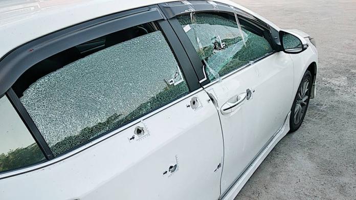 台南一男子在車上遭連轟8槍 命大沒死