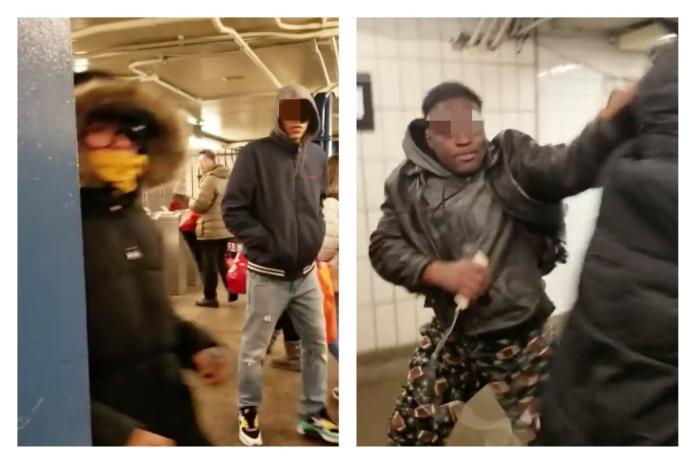 ▲紐約戴口罩超危險?亞裔女孩車站遭毆。(圖/翻攝自影片)