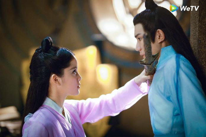 <br> ▲歐陽娜娜和王源在《大主宰》中關係進展飛速。(圖/WeTV提供)