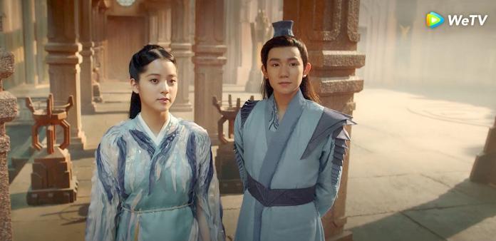 0205 歐陽娜娜(左)與王源在《大主宰》引發網友火箭式追劇熱潮。(圖:WeTV提供)