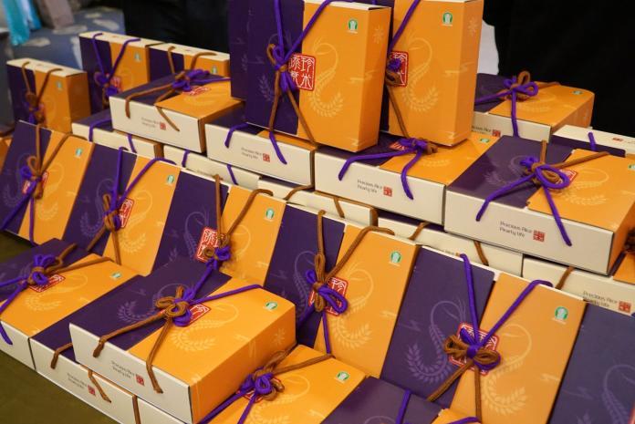 <br> ▲大葉大學捐贈450盒在地好米給彰化家扶中心。(圖/記者陳雅芳攝,2020.02.06)