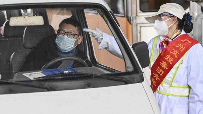 肺炎延燒一線城市 廣州「軟封城」實施封閉式管理進出