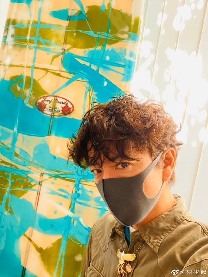 <br> ▲木村拓哉戴的口罩無法抵擋染疫。(圖/翻攝微博)
