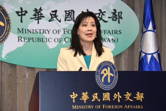 外交部發言人歐江安。( 圖 / 記者林調遜攝 )