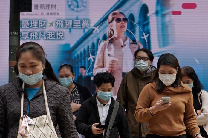 ▲武漢肺炎在中國大陸以外的地區,已開始出現本土傳播或疑似社區感染的現象。圖為香港。(圖/美聯社/達志影像)