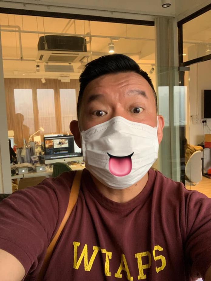 <br> ▲杜汶澤透露香港市民被迫凌晨4點排隊買口罩。(圖/翻攝臉書)