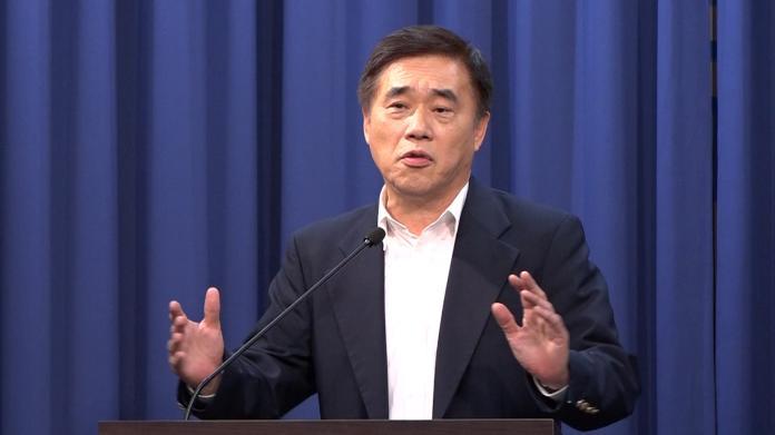 國民黨主席候選人郝龍斌。(圖 / 記者朱永強攝)