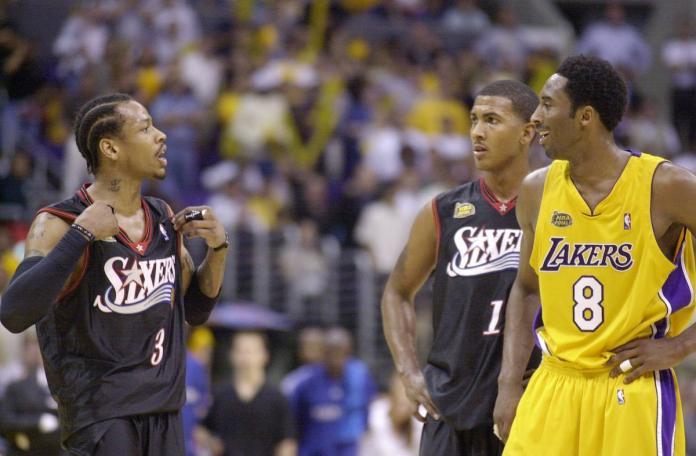 Allen Iverson與Kobe Bryant。(圖/美聯社/達志影像)