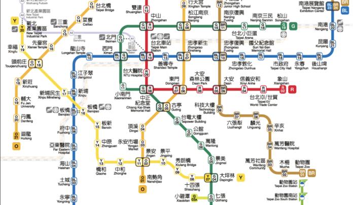 ▲捷運路線圖。(圖/台北捷運公司)