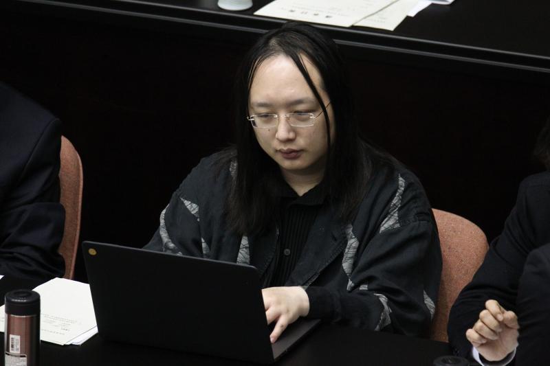 ▲行政院政務委員唐鳳。(圖/記者葉政勳攝 )