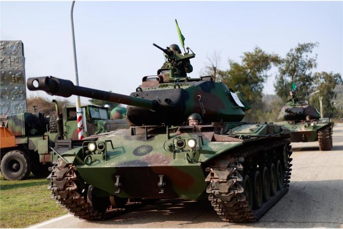 ▲陸軍部署於烈嶼的M41A3戰車。(圖/翻攝自青年日報, 2020.2.21)