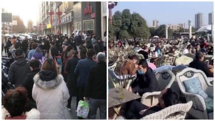 ▲中國武漢肺炎疫情獲得控制,周末大批民眾開心出遊。(圖/翻攝胡錫進微博)
