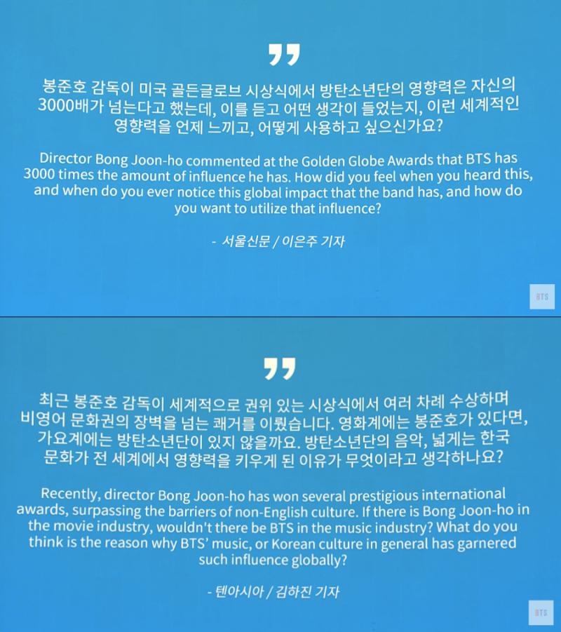 "<br> ▲奉俊昊跟BTS都為國爭光。(圖/BTS YouTube)<br><br><div class=""ad-blk""></div>"