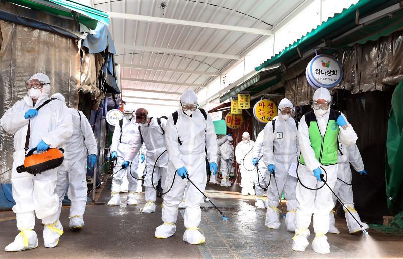 ▲韓國武漢肺炎轉為社區感染,疫情嚴重失控。(圖/美聯社/達志影像)