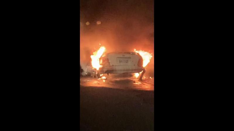 <br> ▲社頭鄉湳底一巷路邊發生火燒車事件。(圖/記者陳雅芳翻攝,2020.02.24)