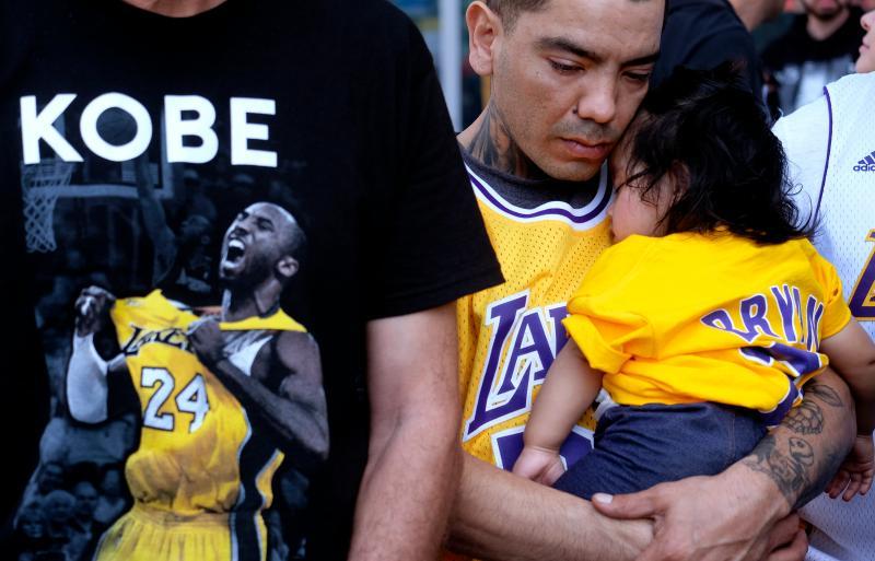 ▲球迷悼念Kobe