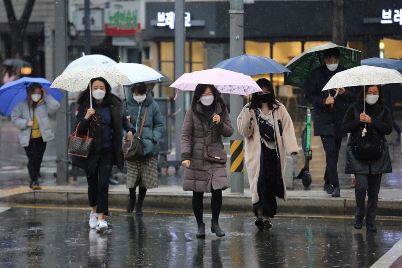 ▲南韓街頭。(圖/美聯社/達志影像)