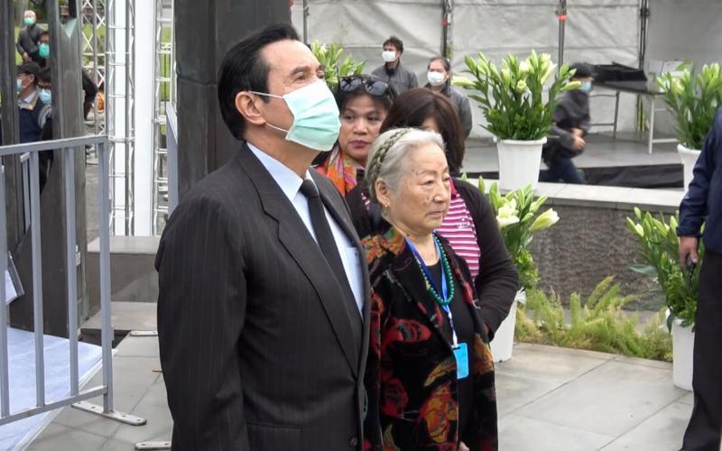 前總統馬英九在27日提前出席228追思活動。(圖 / 記者陳明安攝,2020.02.27)