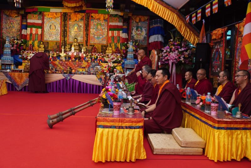 <br> ▲敦請五明佛學院龍迦仁波切等20名喇嘛舉行「除疫息災法會」。(圖/記者陳雅芳攝,2020.02.28)