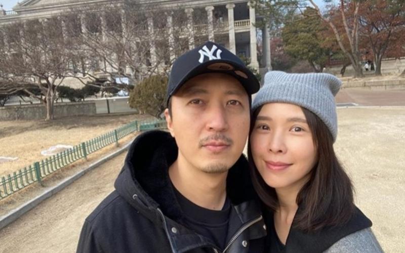 ▲藝人天心(右)於2016年嫁給韓籍老公金英敏(左)。(圖/翻攝天心IG)
