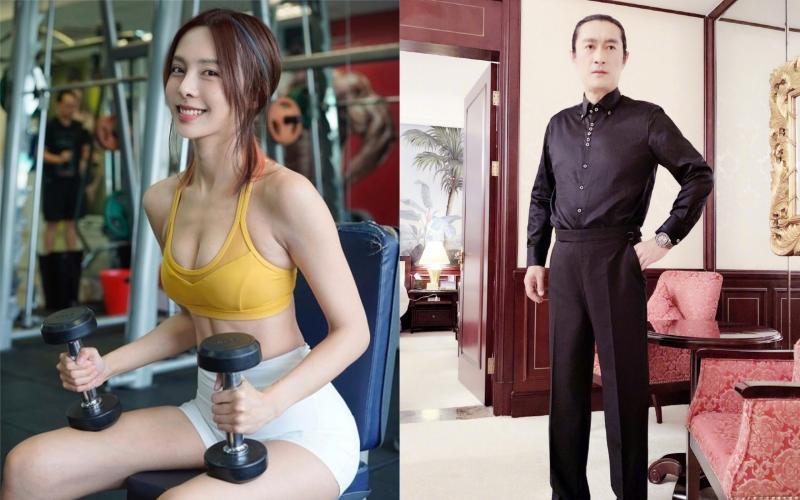 ▲黃安(右)狂曬李元玲(左)辣照。(圖/ 翻攝黃安微博、李元玲IG)