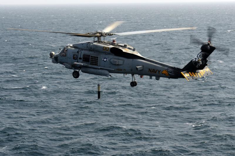 ▲MH-60R海鷹反潛直升機。(圖/美國海軍)
