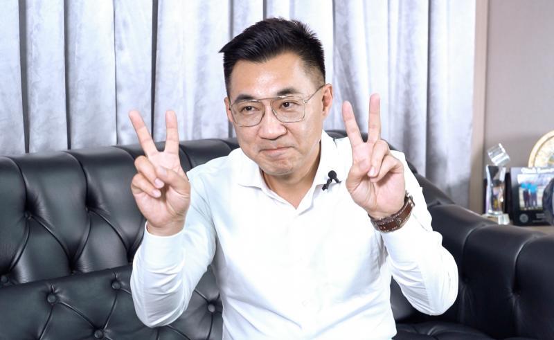 國民黨主席當選人江啟臣。(圖/記者陳明安攝,2020.03.02)